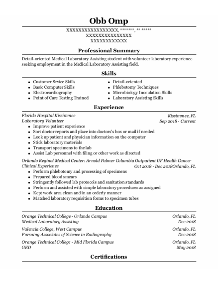 Clinical Experience resume template **