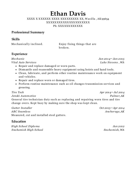 amos exteriors gutter installer resume sample