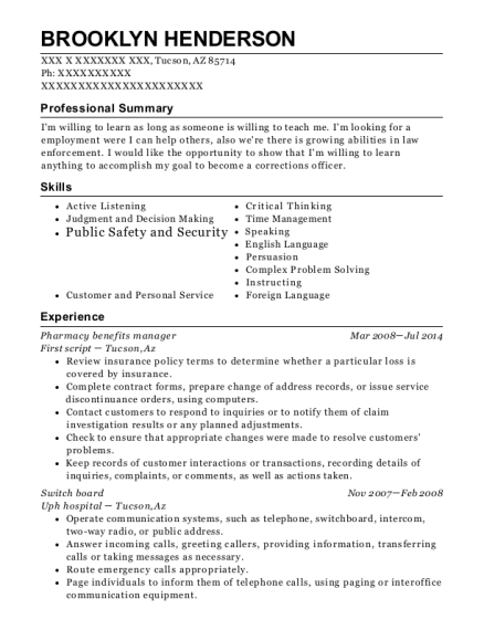 community health network pharmacy benefit manager resume