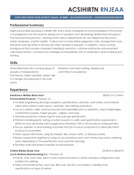 Enrollment Counselor resume example Arizona