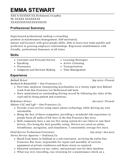 Bobtail driver resume reality versus fantasy term papers