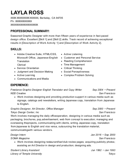 20 Best Freelance Graphic Designer Resumes Resumehelp