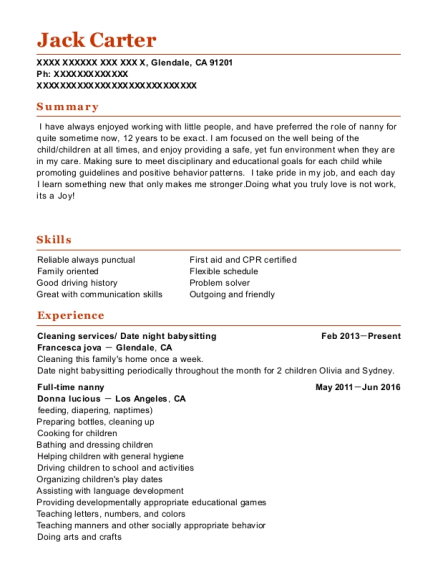 Cleaning services resume template California