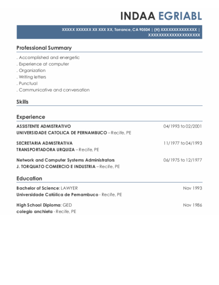 Network And Computer Systems Administrators resume format California