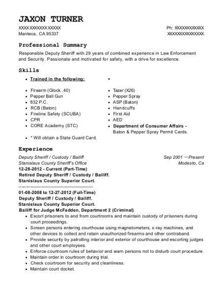 boulder township constable office deputy constable resume sample