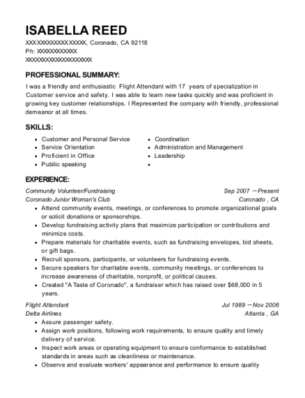 Community Volunteer resume format California