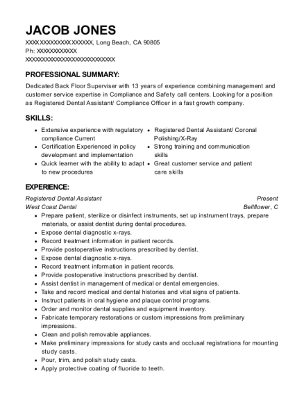 20 Best Dental Assistant Resumes Resumehelp