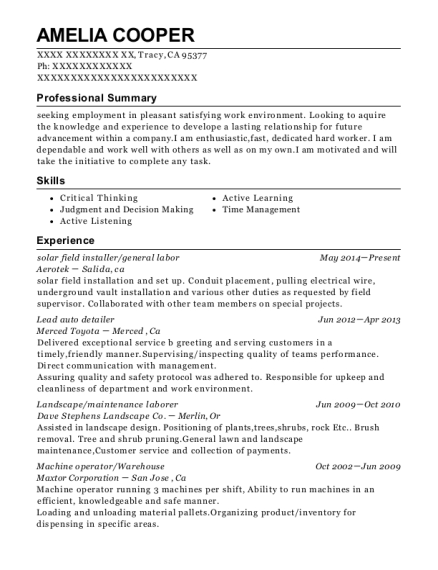 western waterproofing company waterproofer resume sample
