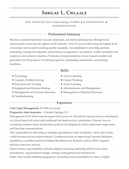 Juvenile Probation Officer resume template Colorado