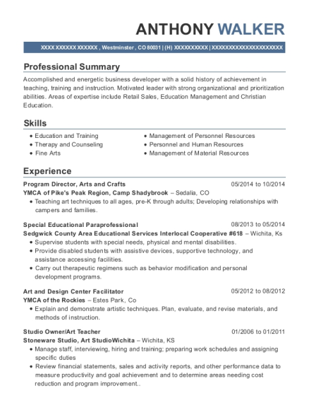 Program Director resume sample Colorado