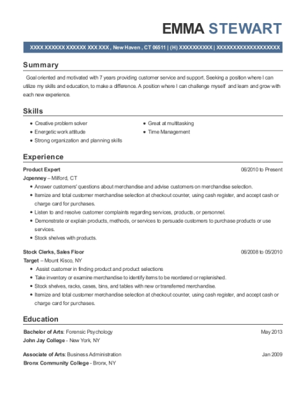 Product Expert resume format Connecticut