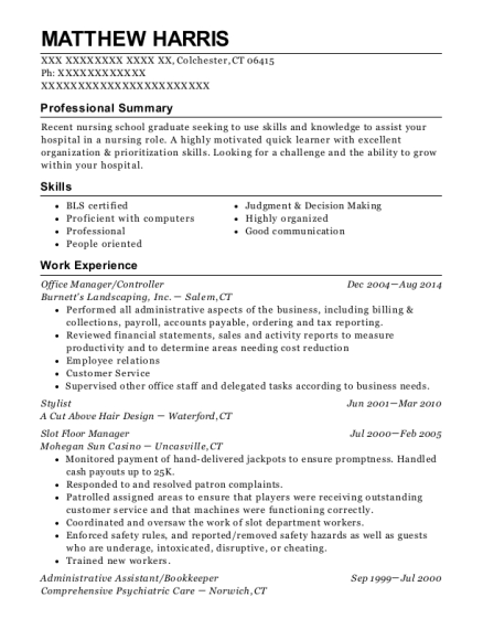 Office Manager resume sample Connecticut