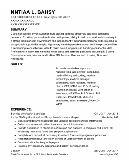 Cashier resume template District Of Columbia