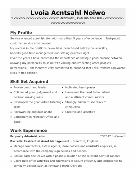 Customer Service Advisor resume template ENGLAND
