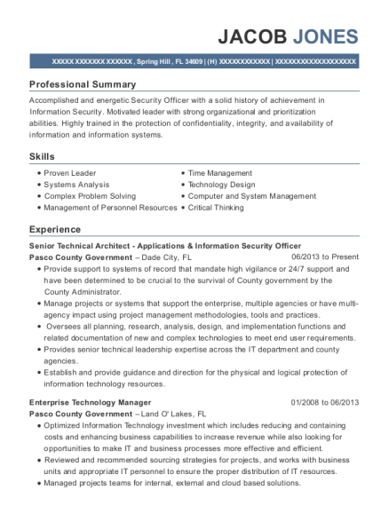 Us Environmental Protection Agency Information Security Officer