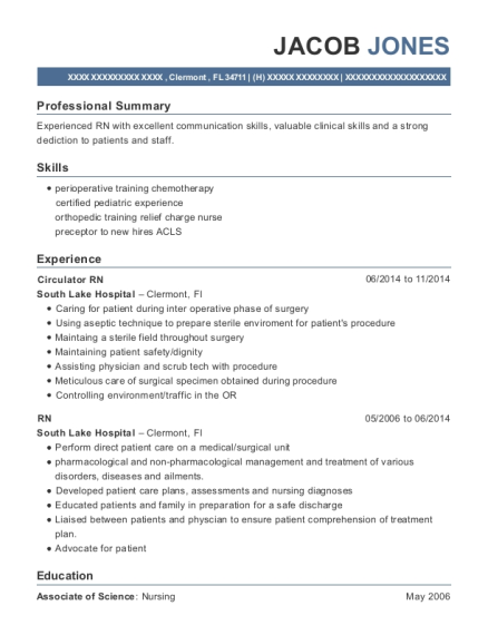 spring valley hospital labor and delivery rn resume sample