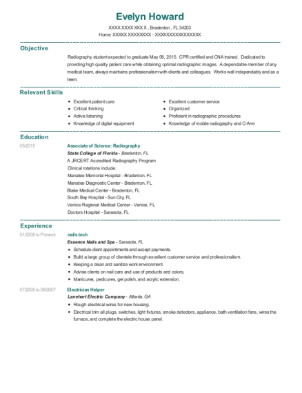 nails tech resume example Florida
