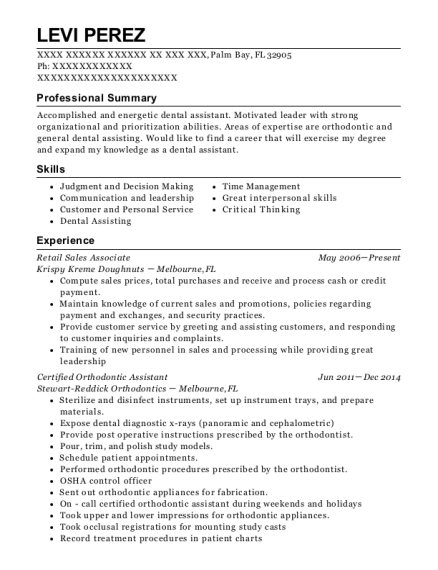 Retail Sales Associate resume example Florida