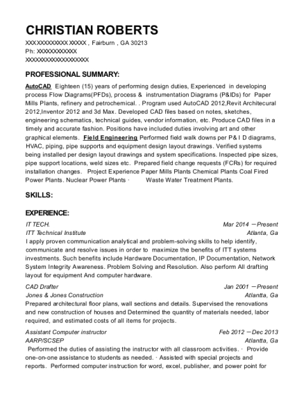 IT TECH resume sample Georgia