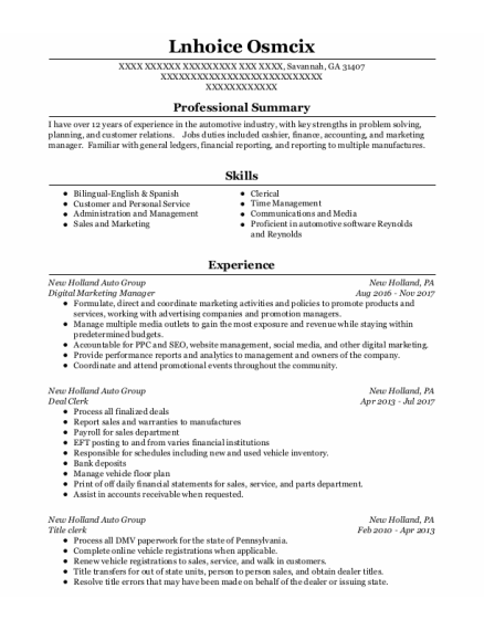 Digital Marketing Manager resume example Georgia