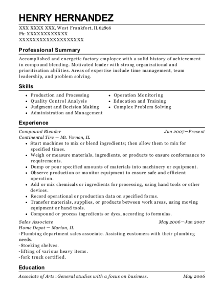 Compound Blender resume template Illinois