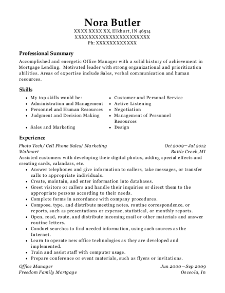 Photo Tech resume template Indiana
