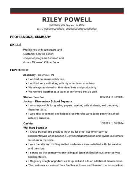 Student teacher resume sample Indiana
