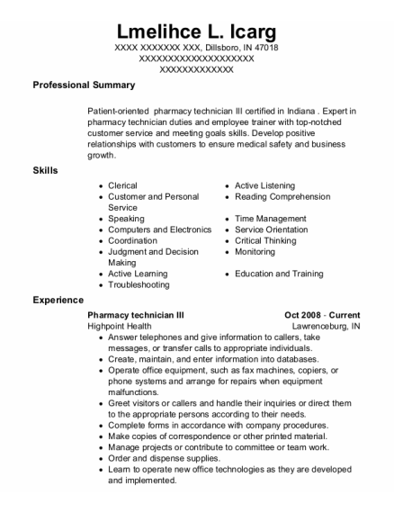 Owner resume sample Indiana