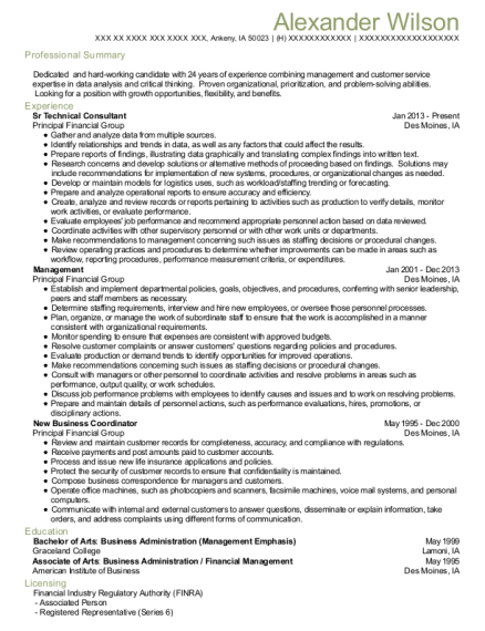 Sr Technical Consultant resume format Iowa