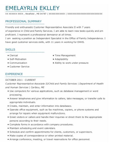 Office Assistant Ii resume sample Maine