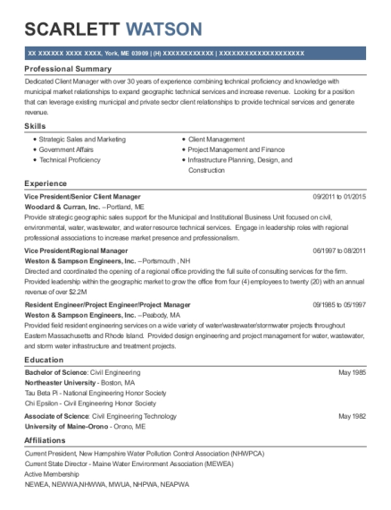 Vice President resume format Maine