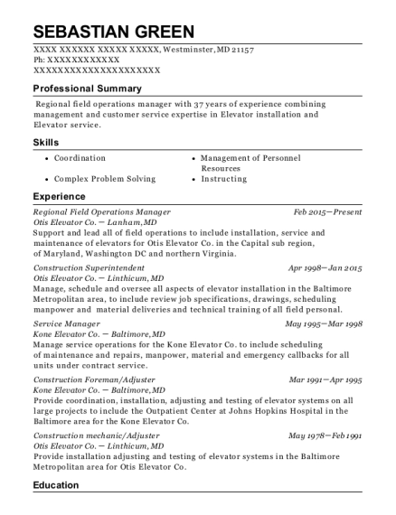 Best Field Operations Manager Resumes | ResumeHelp
