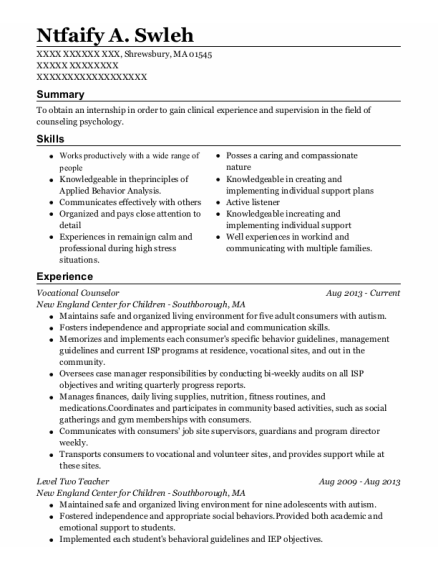 Case Manager resume example Massachusetts