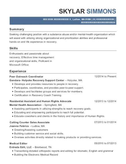 Nuance Transcription Services Medical Editor Resume Sample