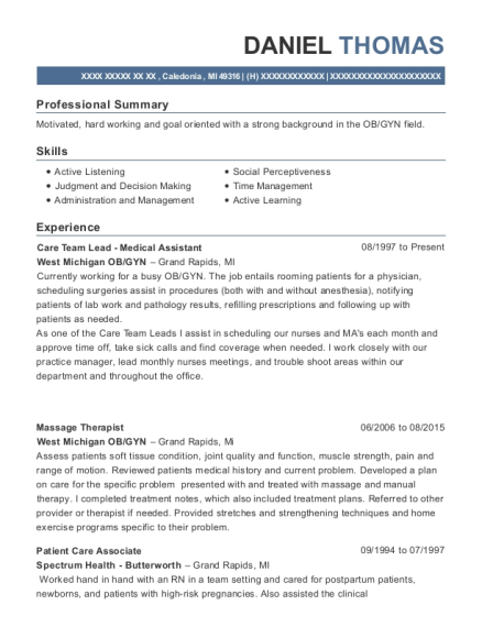 Best Lead Medical Assistant Resumes
