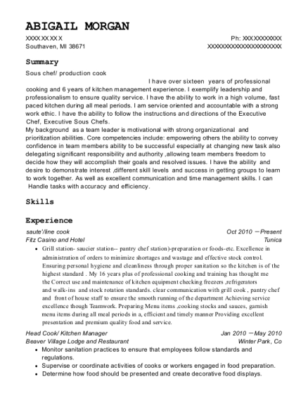 saute resume template Michigan