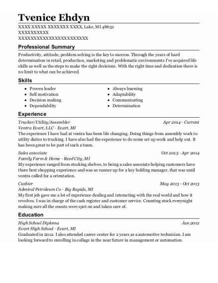 Trucker resume example Michigan