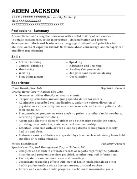 20 Best Health Care Aide Resumes Resumehelp