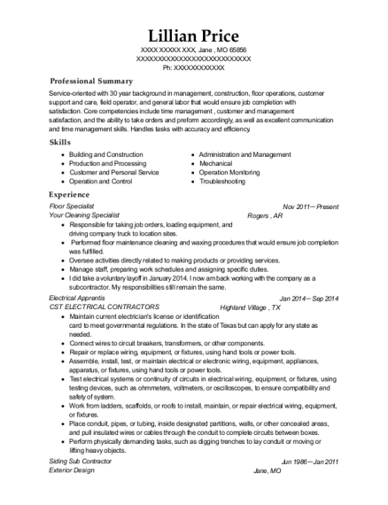 home depot flooring specialist resume sample