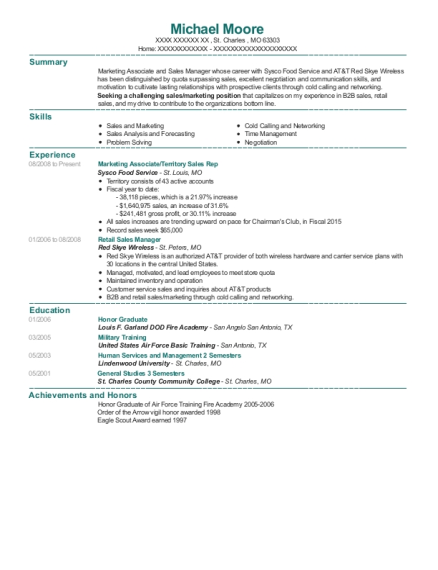 Marketing Associate resume format Missouri