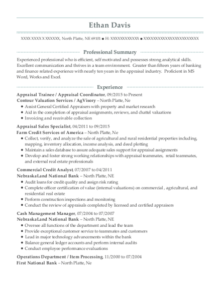first midwest bank commercial credit analyst resume sample