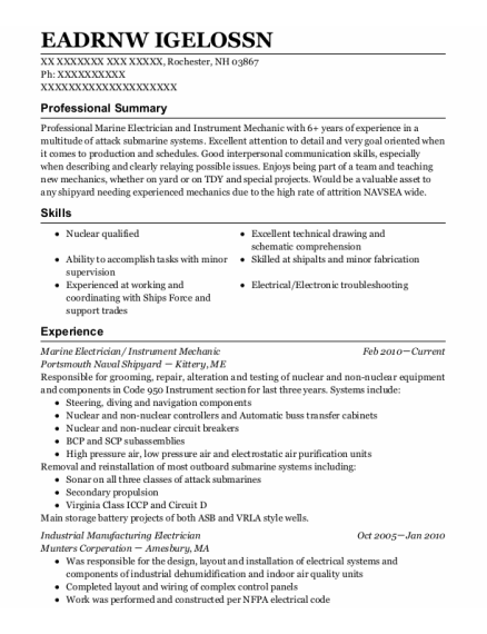 Marine electrical engineer resume law school admissions essay examples