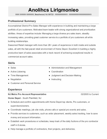 Assistant Store Manger resume example New Jersey