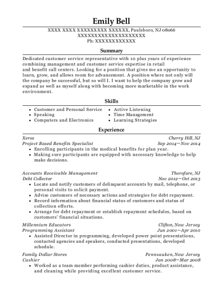 American Anesthesiology Benefits Specialist Resume Sample