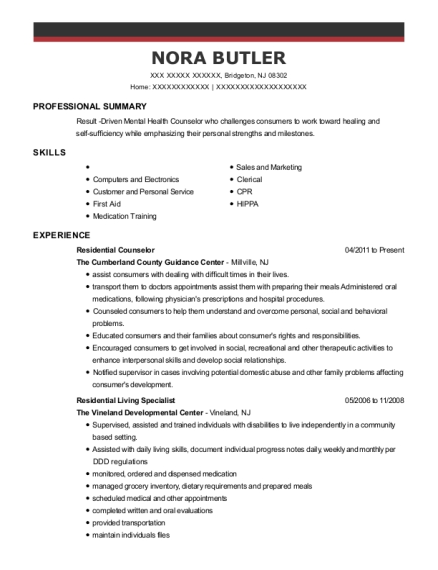 Elwyn Inc Group Home Counselor Resume Sample