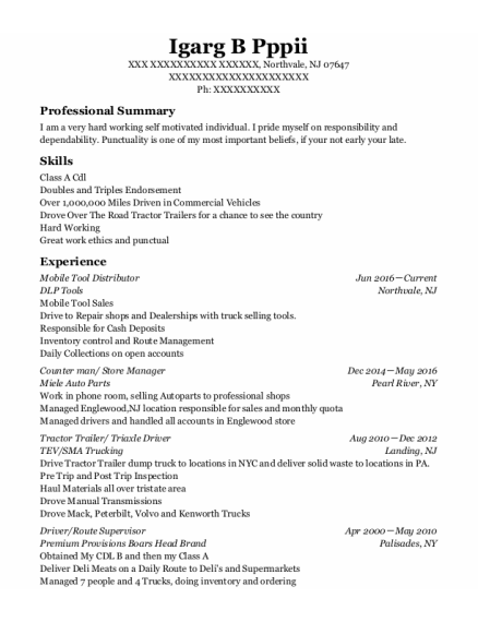 Estée Lauder Counter Manager resume example New Jersey
