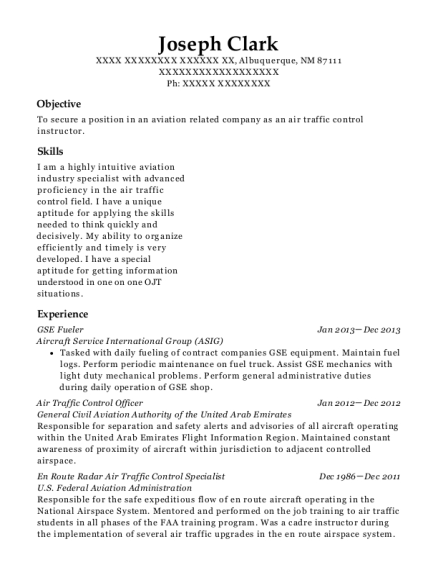GSE Fueler resume sample New Mexico