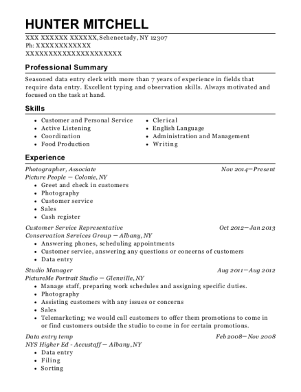 Photographer resume template New York