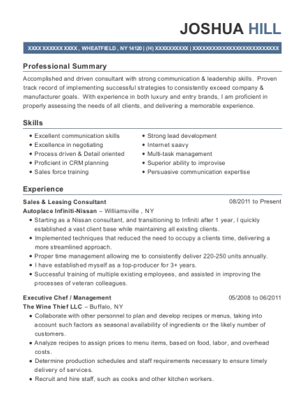 Sales & Leasing Consultant resume format New York