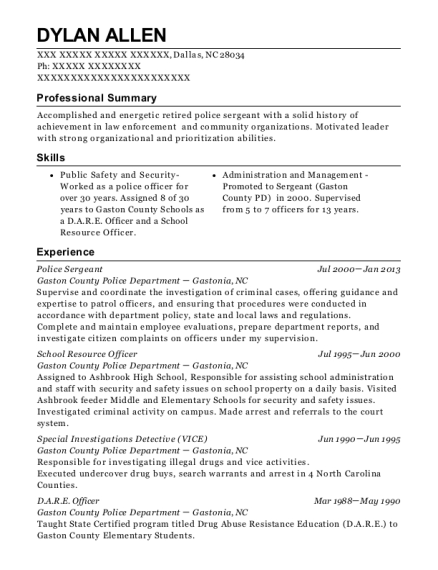 fulton county schools police school resource officer resume sample